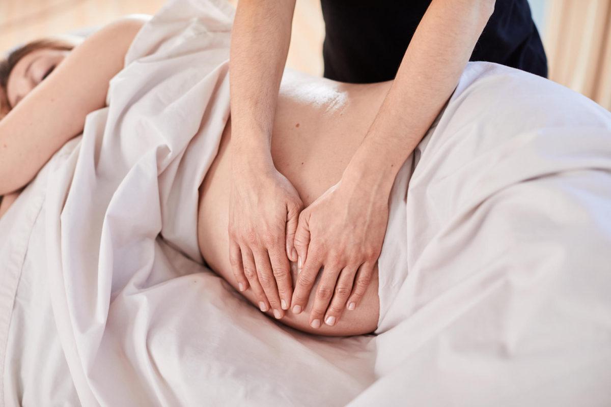 Беременность массаж в картинках